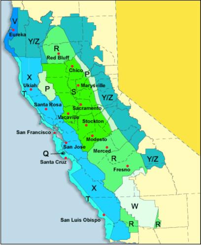 PG&E Baseline Map
